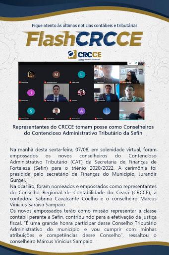 Flash CRCCE – Representantes do CRCCE tomam posse como Conselheiros do Contencioso Administrativo Tributário da Sefin