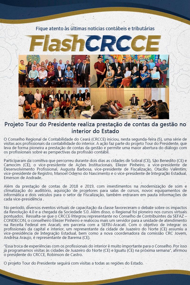 Flash CRCCE – Projeto Tour do Presidente realiza prestação de contas da gestão no interior do estado.