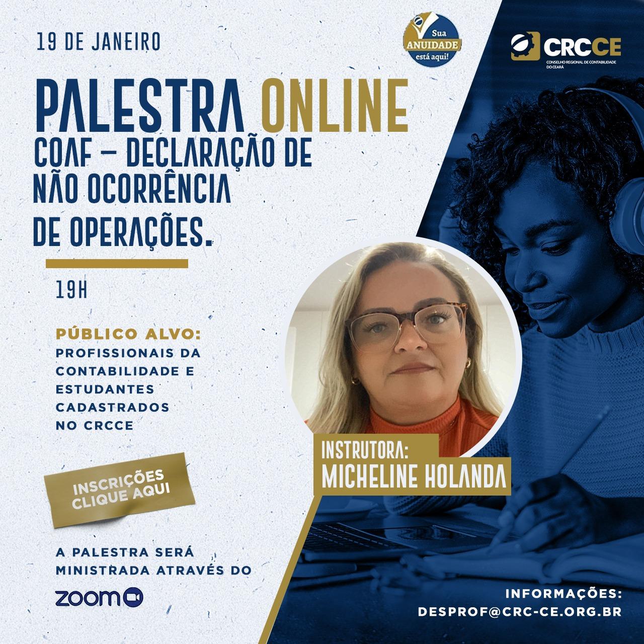 Palestra Online – COAF – Declaração de não Ocorrência de Operações – 19/01/2021 – 19h