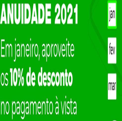 Anuidade de 2021 e outros anos – Emissão de Boleto