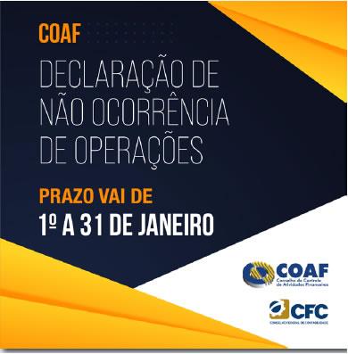 COAF – Declaração de não ocorrência de operações – 01 a 31/01/2021