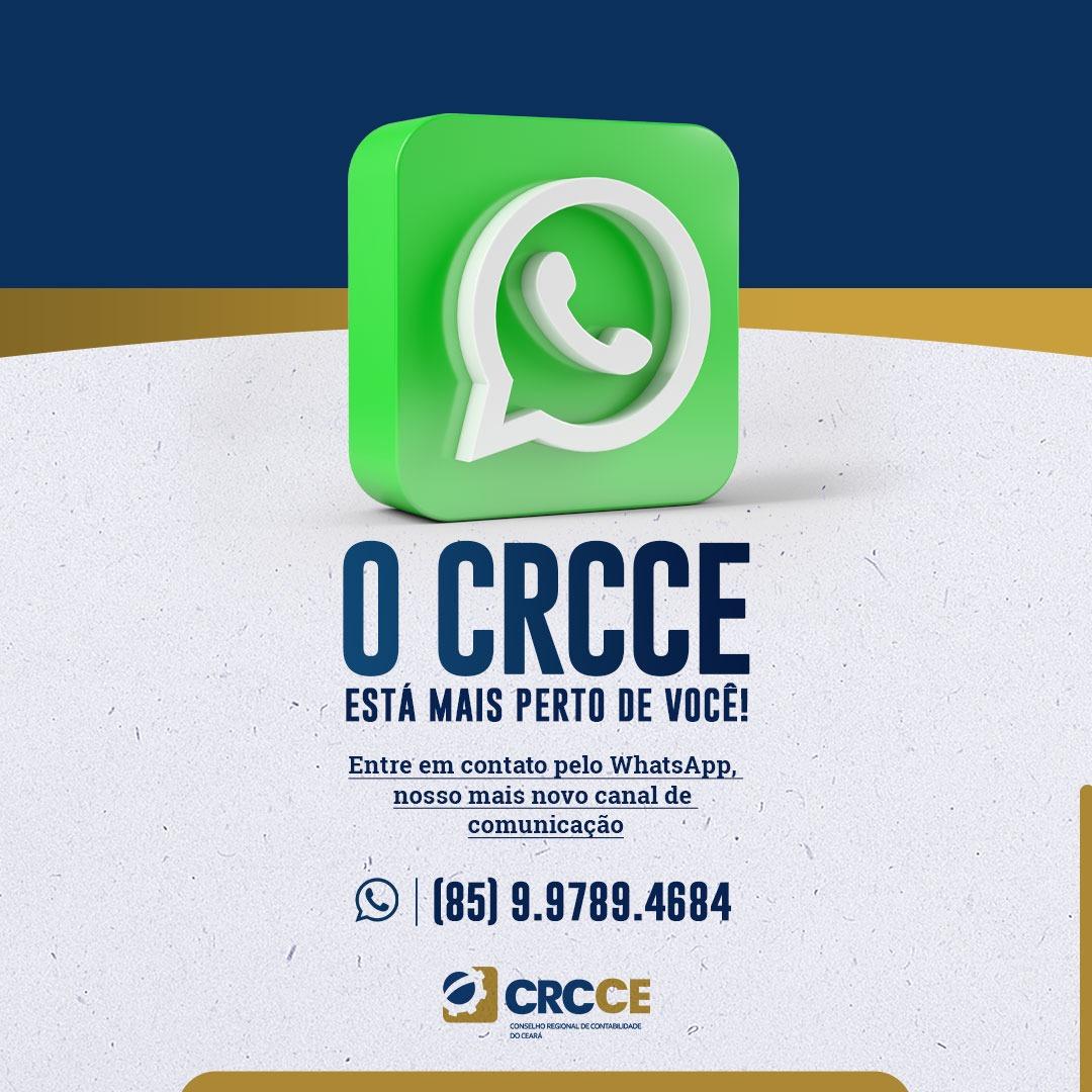 O CRCCE mais perto de você – utilize nosso WhatsApp
