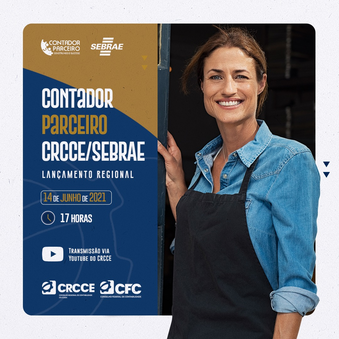 CRCCE e Sebrae lançam projeto Contador Paceiro nesta segunda-feira
