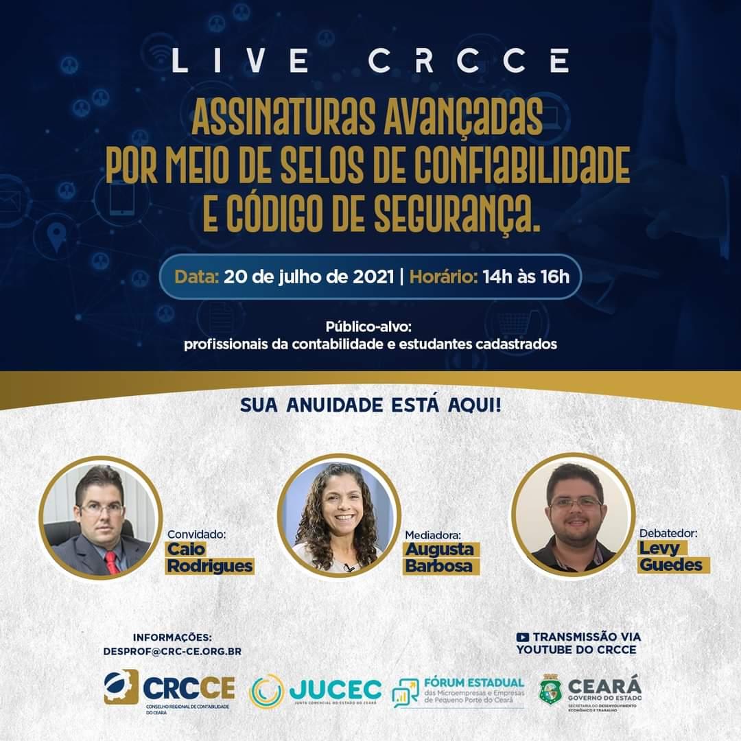 CRCCE e Jucec apresentam live especial sobre as novas assinaturas avançadas