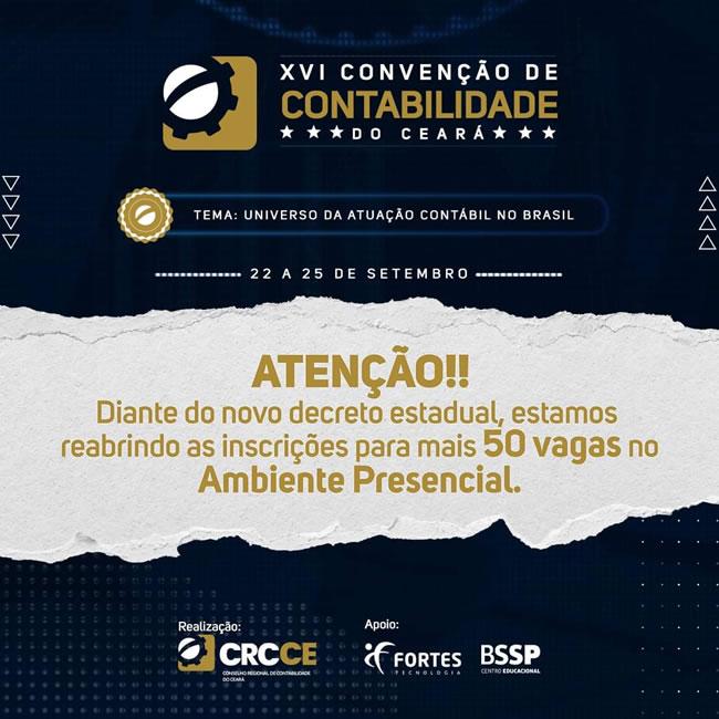 Conheça a programação do XVI Convenção de Contabilidade do Ceará
