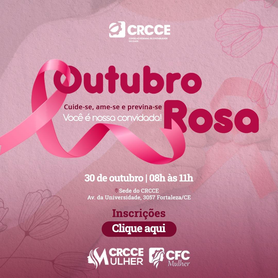 CRC-CE: Outubro Rosa – 30/10/2021 – 08:00h às 11:00h – evento presencial