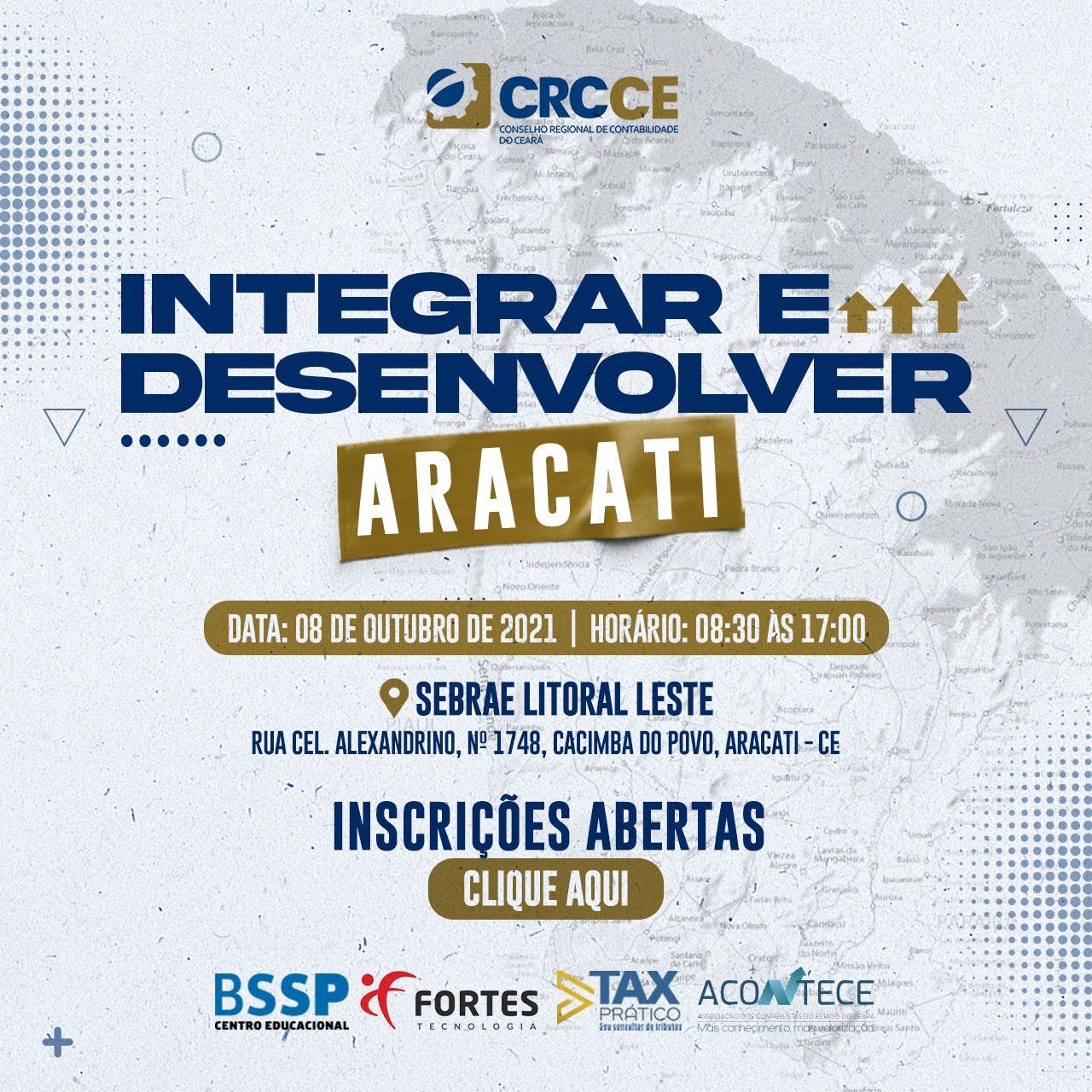 Aracati será o próximo destino do Seminário Integrar e Desenvolver